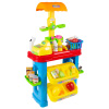 Kids Grocery Store Selling Stand? Supermarket Playset with Toy Cash Register, Scanner, Money, Shopping Basket and 28 Pieces of Food by Hey! Play!