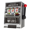 Slot Machine Coin Bank ? Realistic Mini Table Top Novelty Las Vegas Casino Style Jackpot Toy with Lever for Kids and Adults by Trademark Gameroom