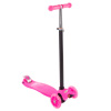Kids Scooter-Beginner Adjustable Height Handlebar, 3 LED Light-up Wheels, Kick Scooter-Fun Balance Riding Toy for Girls and Boys by Lil? Rider (Pink)