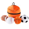 My First Sports Bag Playset- Plush Soccer, Baseball, Basketball & Football for Babies, Infants & Toddlers- Gift Set with Storage Bag by Hey! Play!