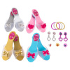 Princess Dress Up Set- High Heels, Bracelets, Earrings, Rings-Pretend Play Costume Accessories for Tea Parties, Halloween, and Birthdays by Hey! Play!