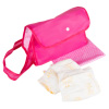 Baby Doll Diaper Bag- Pretend Play Changing Set with Blanket, Reusable Diapers and Pink Nylon Tote for Clothes, Bottles and Accessories by Hey! Play!