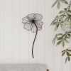 Wall Decor-Rustic Metal Wire Stemmed Flower Sculpture Hanging Accent Art for Living Room, Bedroom or Kitchen by Lavish Home (Brown)