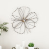 Wall D�cor ? Metallic Wire Layer Flower Sculpture Contemporary Hanging Accent Art for Living Room, Bedroom or Kitchen by Lavish Home (Silver and Gold)