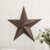 Barn Star-24-Inch Metal Indoor Rustic Farmhouse Americana Hanging Dimensional Shabby Chic Distressed Wall Decor by Lavish Home (Brown)