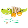 Wooden Pull Toy ? Old Fashioned Rolling Walk Along Alligator with String for Indoor and Outdoor Play ? Preschool, Babies and Toddlers by Hey! Play!