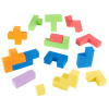 Foam Blocks ? Sensory Building Puzzle Toy for Toddlers and Children ? Soft Manipulative Cube Shapes - Creative Play and Spatial Learning by Hey! Play!