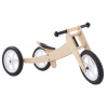 3-in-1 Balance Bike ? Multistage Wooden Walking Beginner Tricycle Convertible Ride On Boys and Girls Toy for Indoor and Outdoor Play by Lil? Rider