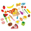 Pretend Play Food Set-Wooden Magnetic Fruits, Vegetables, Bread, Pizza and More-Colorful Creative Play Kitchen Accessories for Kids by Hey! Play!