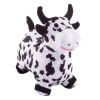Bouncy Cow ? Inflatable Indoor Ride-On Hopper and Balance Exercise Farm Animal Toy for Toddlers and Kids with Air Pump Included by Happy Trails