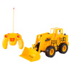 Remote Control Front Loader? 1/24 Scale, Fully Functional RC Bulldozer, Construction Toy Vehicle with Lifting Bucket, Lights & Sound by Hey! Play!
