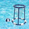 Pool Basketball Hoop Set-Basketball and Air Pump Included-Floating Outdoor Water Game for Kids, Teens, and Adults-Pool Accessories by Hey! Play!