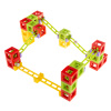 Magnetic 3D Block Marble Run Set ? 36-Piece Building Block Construction Set with Race Tracks for Kids, Educational Toy for Boys, Girls by Hey! Play!