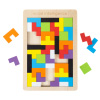 Rainbow Pentominoes-40-Piece Set, Colorful Interlocking Wooden Block Puzzle with Game Tray-Fun Educational STEM Activity for Kids by Hey! Play!