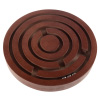 Labyrinth Game ? Classic Table Top Wood and Steel Marble Tilt Skill and Logic Toy ? Retro Family Strategy and Coordination Board Game by Hey! Play!