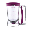 Pancake Batter Dispenser with Measuring Label- Perfect for Baking Cupcakes, Waffles, Cakes, and Muffins- No Drip Dispenser by Chef Buddy