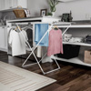 Extendable Clothes Drying Rack ? Telescoping Laundry Sorter with Rust Resistant Metal X-Frame for Folding and Hanging Garments by Lavish Home