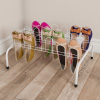 Floor Shoe Rack- 9 Pair Storage Organizer for Tennis Shoes, Sneakers, Heels, Flats-Space Saving for Bedroom, Entryway, Hallway, Closet by Lavish Home