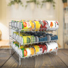 3-Tier Can Dispenser-Organizer Holds 36 Standard Jars, Food or Soda Cans-For Kitchen Pantry, Countertops, Cabinets, Fridge-Storage Rack by Lavish Home