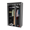 Wardrobe Closet Organizer with Dust Cover ? Free Standing Vertical Armoire with Dustproof, Non-Woven Fabric Cover and Metal Frame by Lavish Home