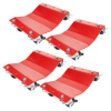 5046 Pentagon Tool | Commercial Grade 4-Pack | Tire Dolly - Tire Skates | Red