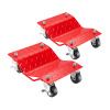 5050 Pentagon Tool | Premium 2-Pack | Car Tire Dolly - Tire Skates Red