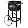 Popcorn Machine Cart- Black Vintage Replacement Cart for 4-6 Ounce Poppers- 2 Shelves, Push Handle & Bicycle Style Wheels by Great Northern Popcorn