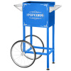 Popcorn Machine Cart- Blue Vintage Replacement Cart for 4-6 Ounce Poppers- 2 Shelves, Push Handle & Bicycle Style Wheels by Great Northern Popcorn
