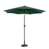 Villacera 9' Outdoor Patio Umbrella with 8 Ribs, Aluminum Pole and Auto Tilt, Fade Resistant Market Umbrella, Forest Green