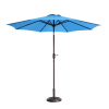 Villacera 9' Outdoor Patio Umbrella with 8 Ribs, Aluminum Pole and Auto Tilt, Fade Resistant Market Umbrella, Blue