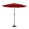 Villacera 9' Outdoor Patio Umbrella with 8 Ribs, Aluminum Pole and Auto Tilt, Fade Resistant Market Umbrella, Red