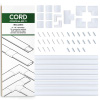 Cord Organizer Kit- Sliding Cable Management-Covers for Hiding Power Cords or Wires, Wall Mounted TV Cables in Home or Office by SimpleCord