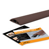 Floor Cord Protector Covers Cables, Cords, or Wires - 3 Channel for Sidewalks or Walkways, for Home or Office Doorways (Brown 4 Ft)