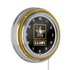 U.S. Army Chrome Double Ring Neon Clock