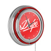Dodge Chrome Double Rung Neon Clock - Signature