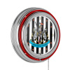 Premier League Newcastle United Chrome Double Rung Neon Clock