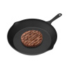 Frying Pan - Cast Iron Pre-Seasoned Nonstick 6? Skillet - Cook Eggs, Omelets, Meat, Mini Pizza and More - Kitchen or Camping Cookware by Chef Buddy