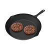 Frying Pan - Cast Iron Pre-Seasoned Nonstick 8? Skillet - Cook Eggs, Omelets, Meat, Mini Pizza and More - Kitchen or Camping Cookware by Chef Buddy
