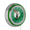 NBA Chrome Double Rung Neon Clock - City - Boston Celtics