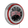 NBA Chrome Double Rung Neon Clock - Fade - Chicago Bulls