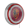 NBA Chrome Double Rung Neon Clock - City - Cleveland Cavaliers