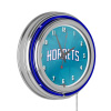 NBA Chrome Double Rung Neon Clock - Fade - Charlotte Hornets