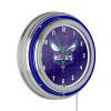 NBA Chrome Double Rung Neon Clock - City - Charlotte Hornets