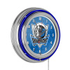 NBA Chrome Double Rung Neon Clock - City - Dallas Mavericks