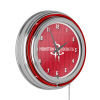 NBA Chrome Double Rung Neon Clock - City - Houston Rockets