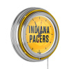 NBA Chrome Double Rung Neon Clock - Fade - Indiana Pacers
