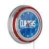 NBA Chrome Double Rung Neon Clock - Fade - Los Angeles Clippers