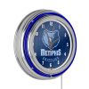 NBA Chrome Double Rung Neon Clock - City - Memphis Grizzlies