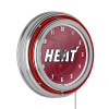 NBA Chrome Double Rung Neon Clock - Fade - Miami Heat