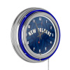 NBA Chrome Double Rung Neon Clock - Fade - New Orleans Pelicans